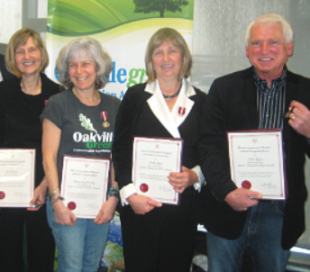 "Allan and fellow Oakvillegreen founders received Queen's Diamond Jubilee Medals.  ""The recognition paid tribute to their role in the creation of Oakville's Natural Heritage System, Ontario's first municipal system of its kind."""